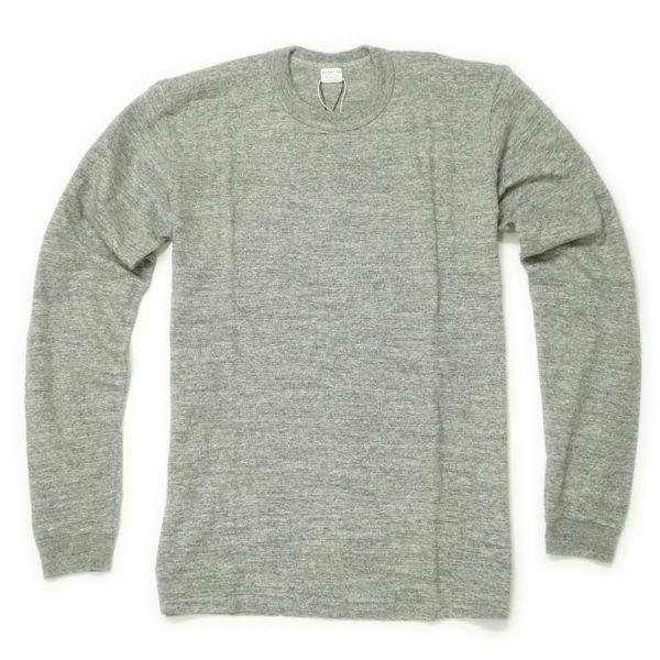 サンプル商品 吊り編み天竺長袖Tシャツ(杢グレー)